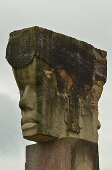 Image, Head, Face, Statue, Traben-trarbach, Germany