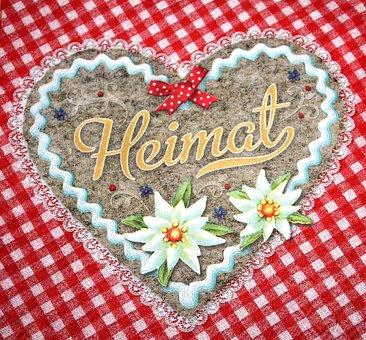 Oktoberfest, Heart, Home, Red White Checkered