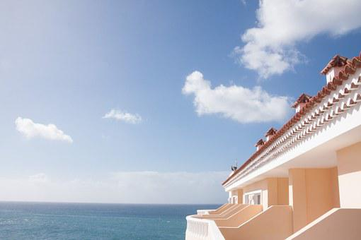 Building, Balconies, Hotel, Holiday, Sea, Roof