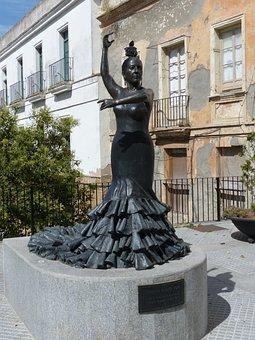 Statue, Flamenco, Dance, Andalusia, Jerez