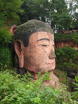 Buddha Head, Leshan, Chengdu, China, Temple