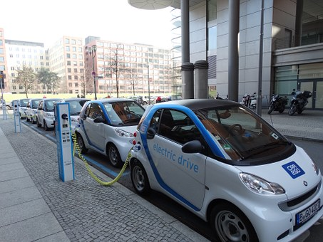 Electric Car, Parking, Loading