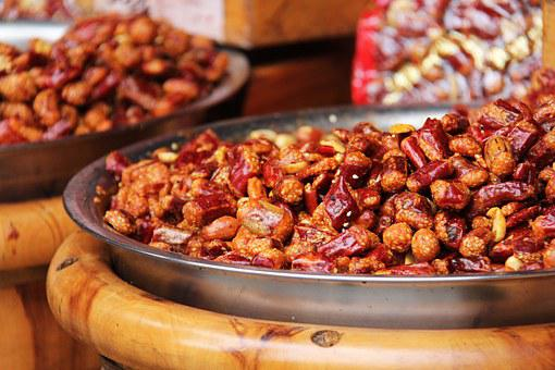 Spicy, Fried Peanuts, Dry Chili, Local Products