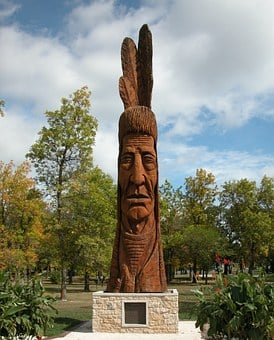 Stake, Indian, Is Bohrene, Monument, Stature, Canada