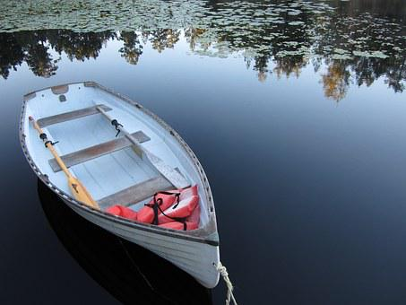 Lake, Reflection, Boat, Peace, Quiet, Lily, Victoria