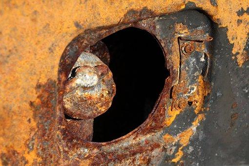 Burned, Accident, Lid, Petrol, Gas, Car, Damage, Metal