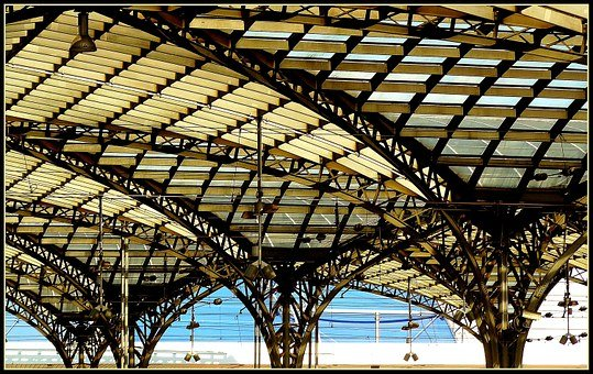 Railway Station, Station Roof, Roof, Roof Construction