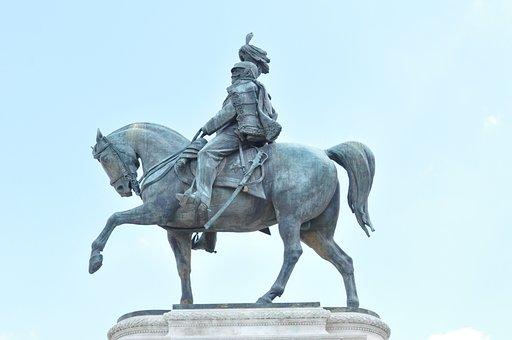 Reiter, Stature, Bronze, Monument, Statue, Metal, Alloy