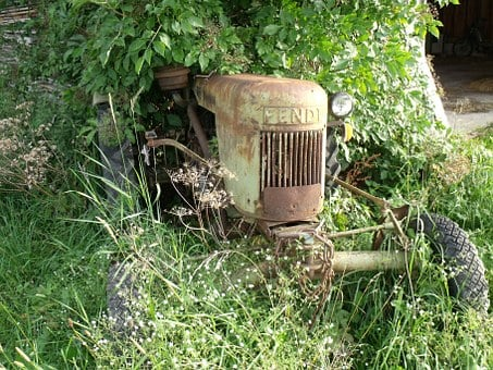 Tractor, Old Tractor, Nature, Vehicle, Metal, Rusted