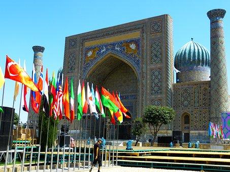 Samarkand, Registan Square, Uzbekistan