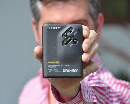 Sony, Walkman, Man, Hand, Music, Entertainment