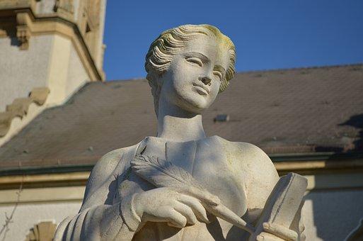 Hockenheim Germany, Protestant, Church, Statue, Stature