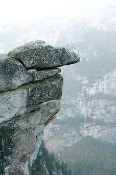 Cliff, Rock, Stone, Deep, Dizziness, No Fear Of Heights