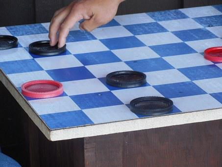 Board, Game, Checkers, Play, Strategy, Fun, Competition