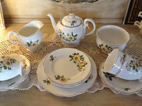 Tea Set, China, Tea, Set, Cup, Drink, Teapot, Beverage
