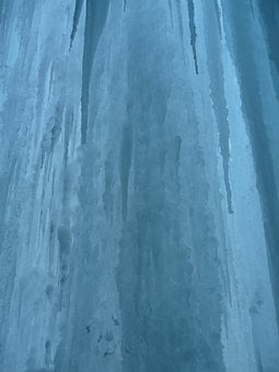 Ice Curtain, Icicle, Shimmer, Light, Blue, Transparent