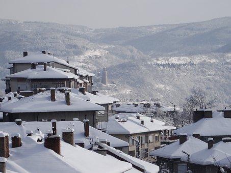 Veliko Tarnovo, Tsarevets, Snow, Landscape
