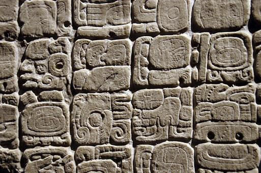 Mexico, Anthropological Museum, Glyph, Maya, Writing