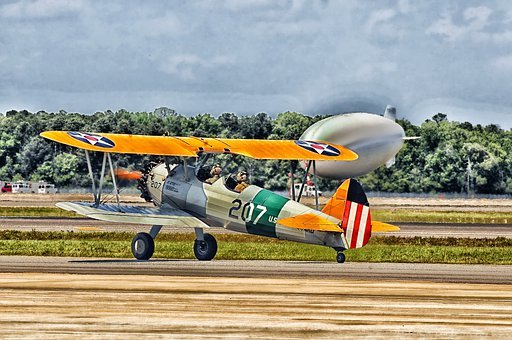 Jacksonville, Florida, Airplane, Bi-wing, Old, Classic