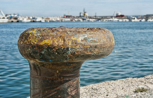Boat Yard, Bollard, Mooring Pin, Fishing Spain