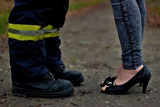 Fire Boots, Heels, Boy, Girl, Path