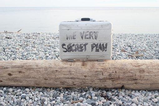 The Very Secret Plan, Briefcase Message, Log On Beach