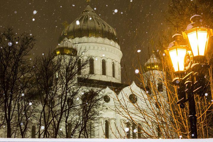 Christ The Savior Cathedral, Moscow, Christmas