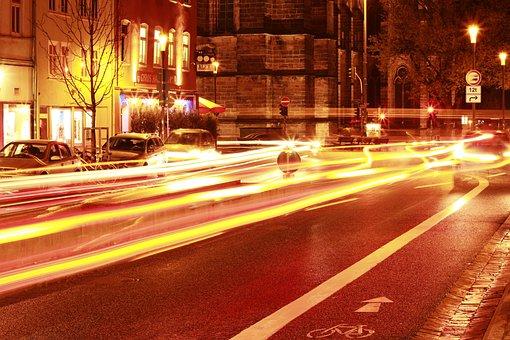 Night, Long Exposure, Marburg, At Night, City, Lights