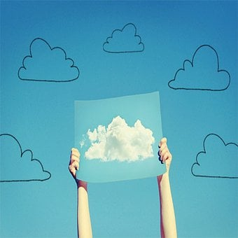 Clouds, Cloud Drawing, Cloud Poster, Cloud Sign