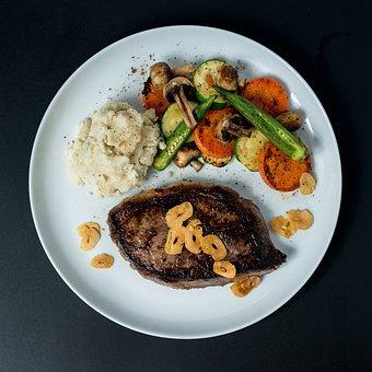 Food, Cuisine, Western, Meat, Vegetables, Salad, Grill