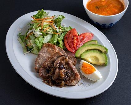 Food, Cuisine, Western, Meat, Pork, Soup, Salad
