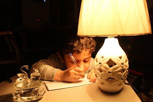 Kid, Drawing, Iraq, Baghdad, Light