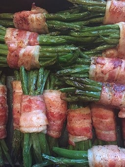 Eat, Bacon Beans, Close, Bacon, Beans
