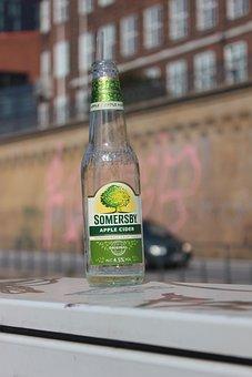 Beer, Empty Bottle, Light Green, Empty, Transparent