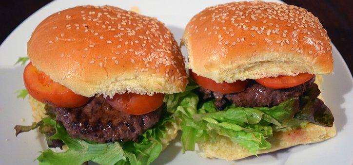 Hamburgers, Beefburgers, Beef, Food, Lettuce