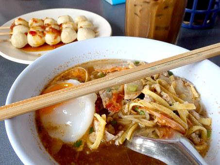 Noodle, Meat Ball, Foods, Meal, Lunch, Asian Food
