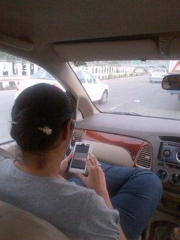 Back, Car, Hairdo, Mobile, Journey, Fun, People, Road