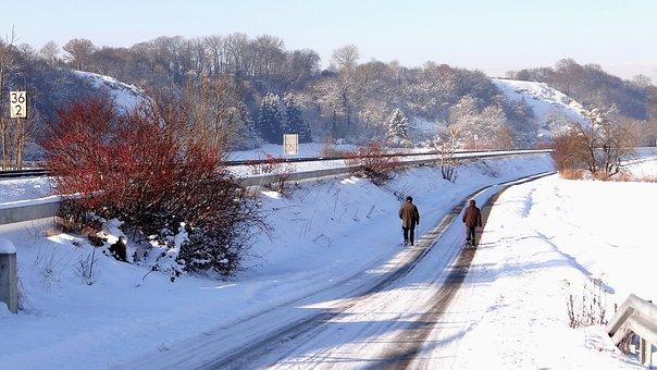 Walk, Brenz Railway, Hermaringen, Giengen, Winter