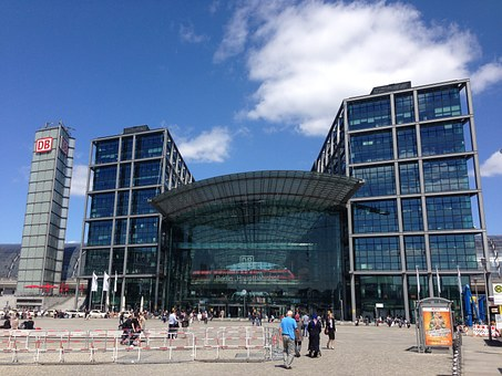 Berlin, Central Station, Glass Facade, Building