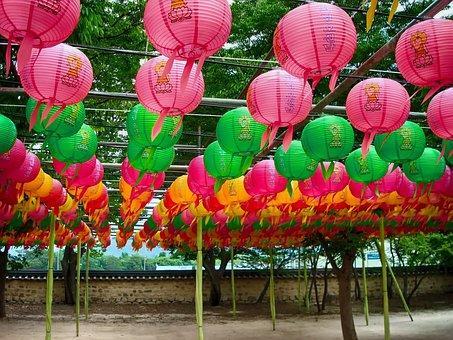 Gyeong Ju, South Korea, Lanterns, Pagoda Temple, Faith