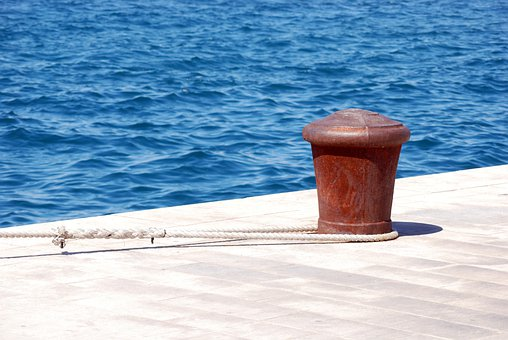 Bollard, Moorings, Rope, Port, Harbor, Dock, Haven, Sea