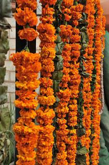 Flowers, Garland, Decoration, Marraige, India