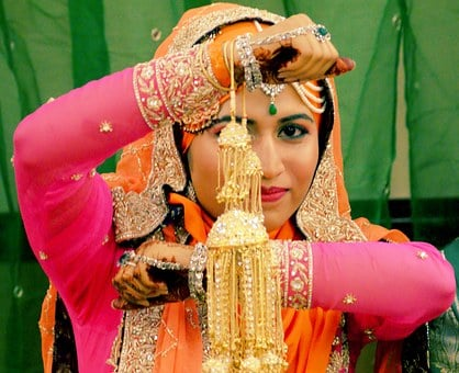 Bride, Traditional, Indian, Jewelry, Wedding, Love