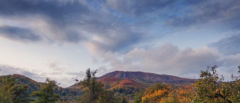 Mountain, Skyscape, Sky, Landscape, Nature, Blue