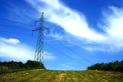 Current, High-voltage Line, Line, The Voltage, Meadow