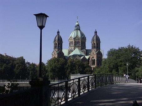 Church, Munich, Hl, Marianne, Cable Bridge