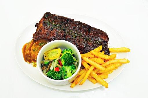 Food, Western, Dine, Bohm Fries, Meat, Roast, Steak