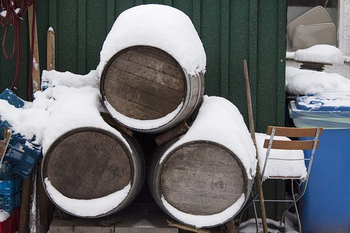 Wine Barrels, Oak Barrels, Snow, Mess, Tons, Devices