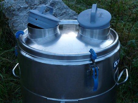 Tonne Of Milk, Milk Tank, Milchebehaelter, Milk Barrel