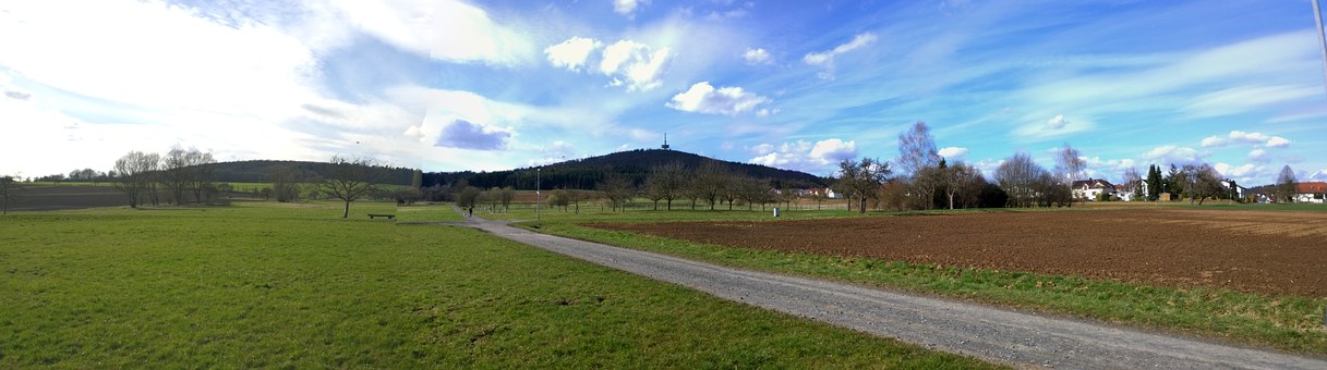 Dünsberg, Landscape, Mountain, Sky, Grass